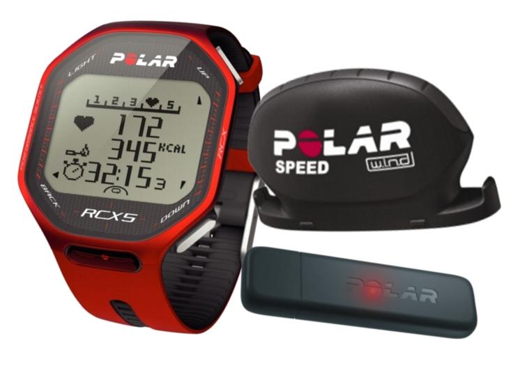 Hodinky POLAR RCX5 bike + datalink červený