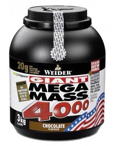 WEIDER Mega Mass 4000 3 kg jahoda
