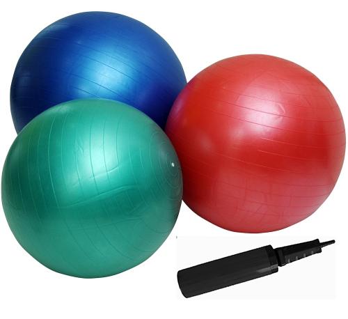 Gym ball ABS 85 cm stříbrný