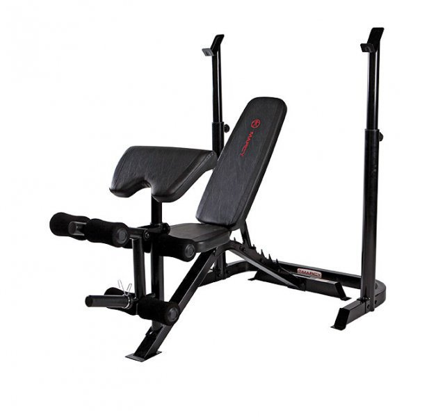 Bench lavice se stojany MARCY Mid Width Barbell Bench BE3000
