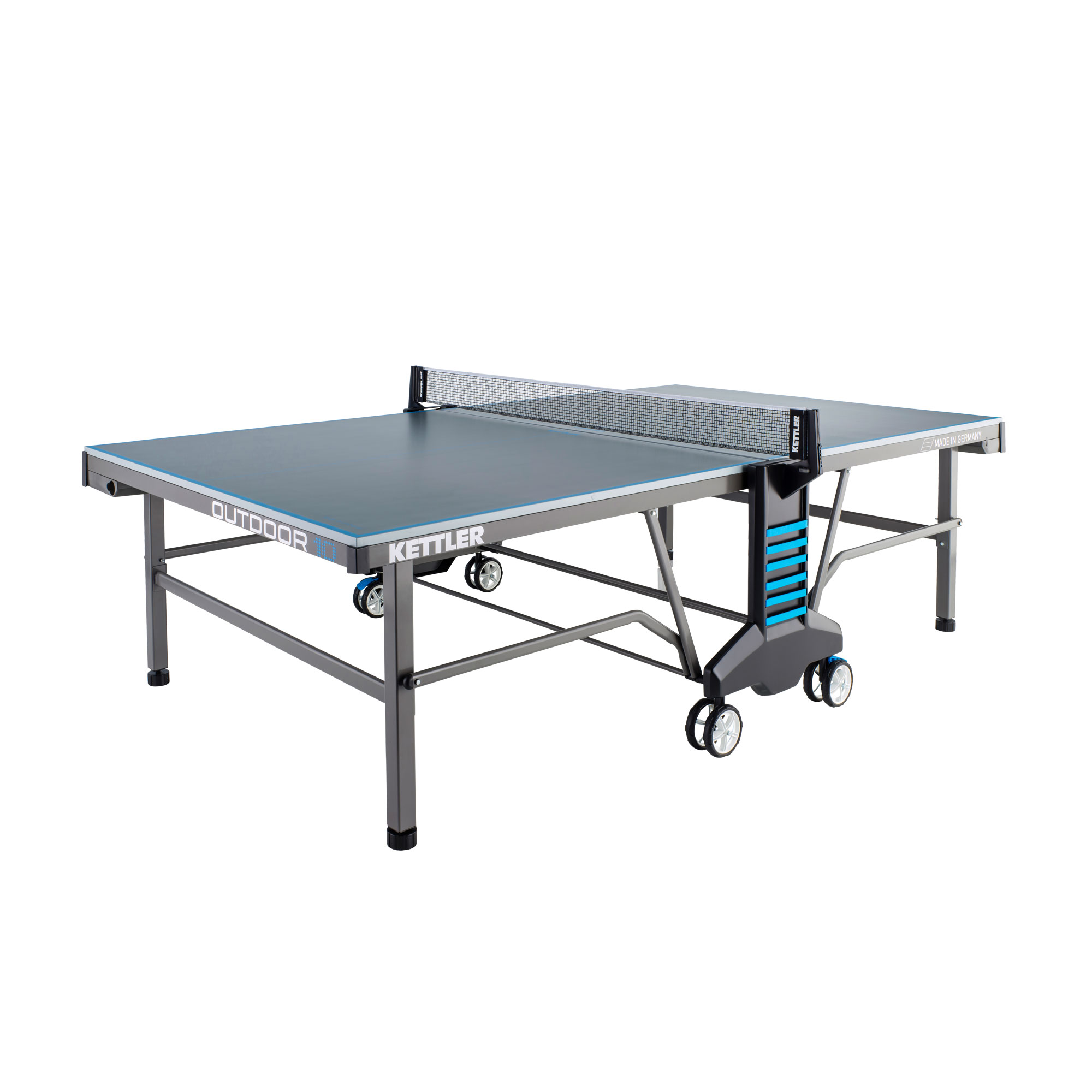 Pingpongový stůl venkovní KETTLER OUTDOOR 10 šedo-modrý + rozšířená záruka 60 měsíců ZDARMA