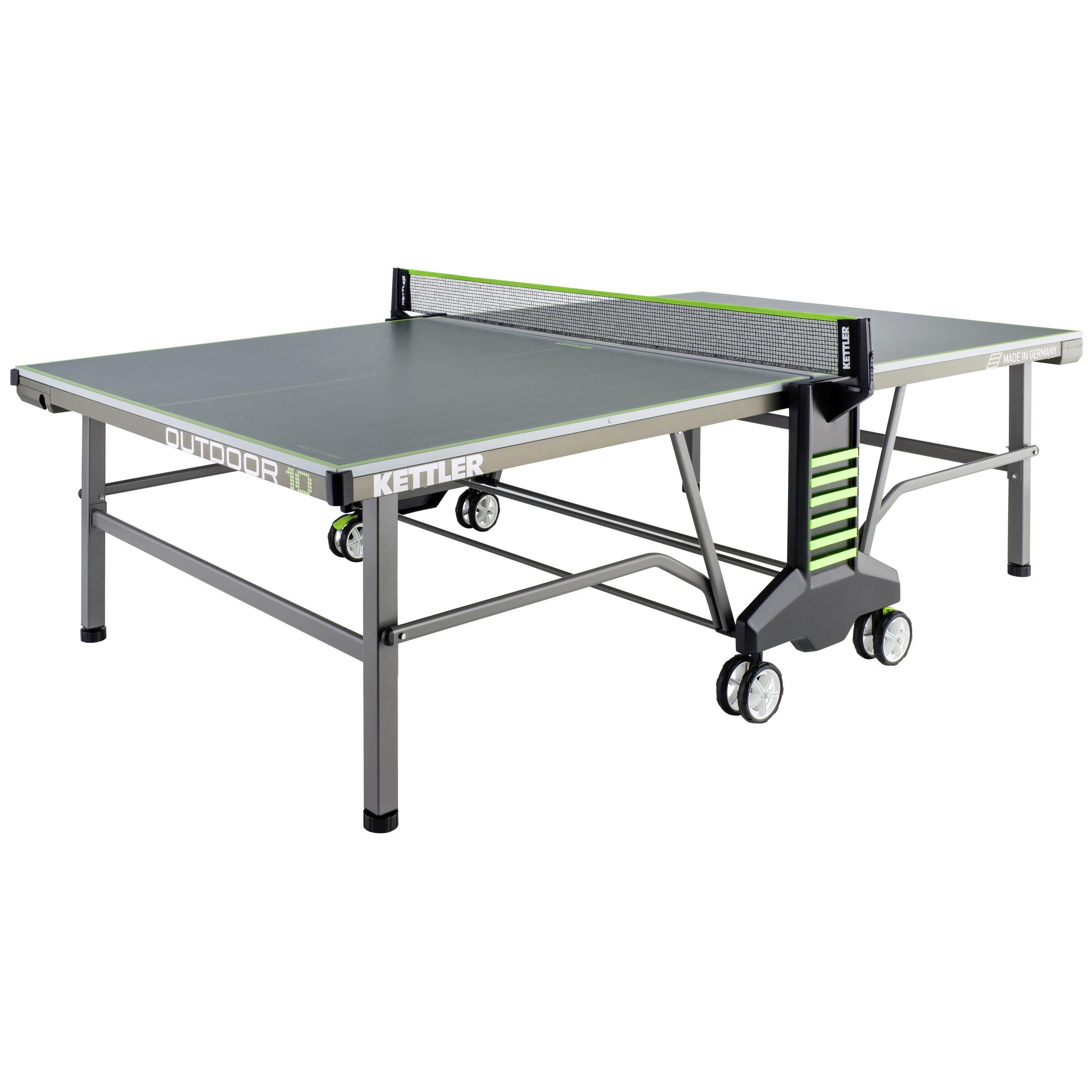 Pingpongový stůl venkovní KETTLER OUTDOOR 10 okrový-zelený + rozšířená záruka 60 měsíců ZDARMA
