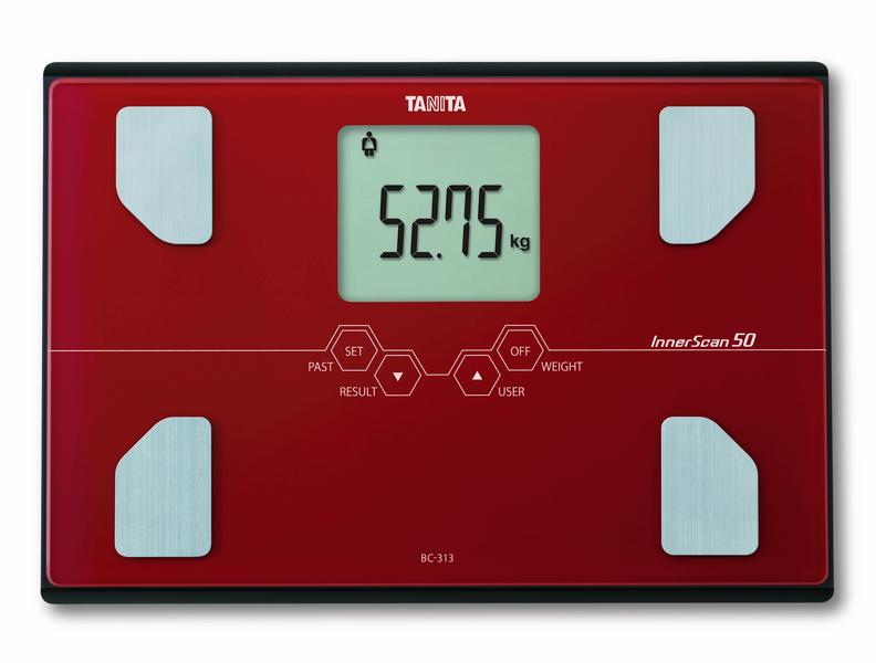 Osobní váha s měřením tuku TANITA BC-313 cihlová