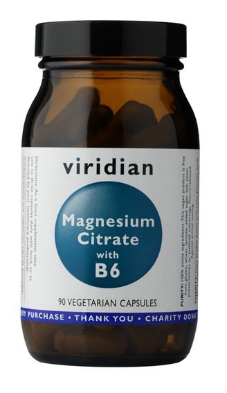 VIRIDIAN Magnesium Citrate + vitamin B6 90 kapslí