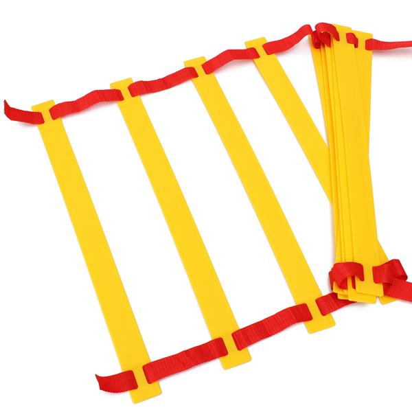 Tréninkový žebřík AGILITY 4,5 m oranžovo-žlutý