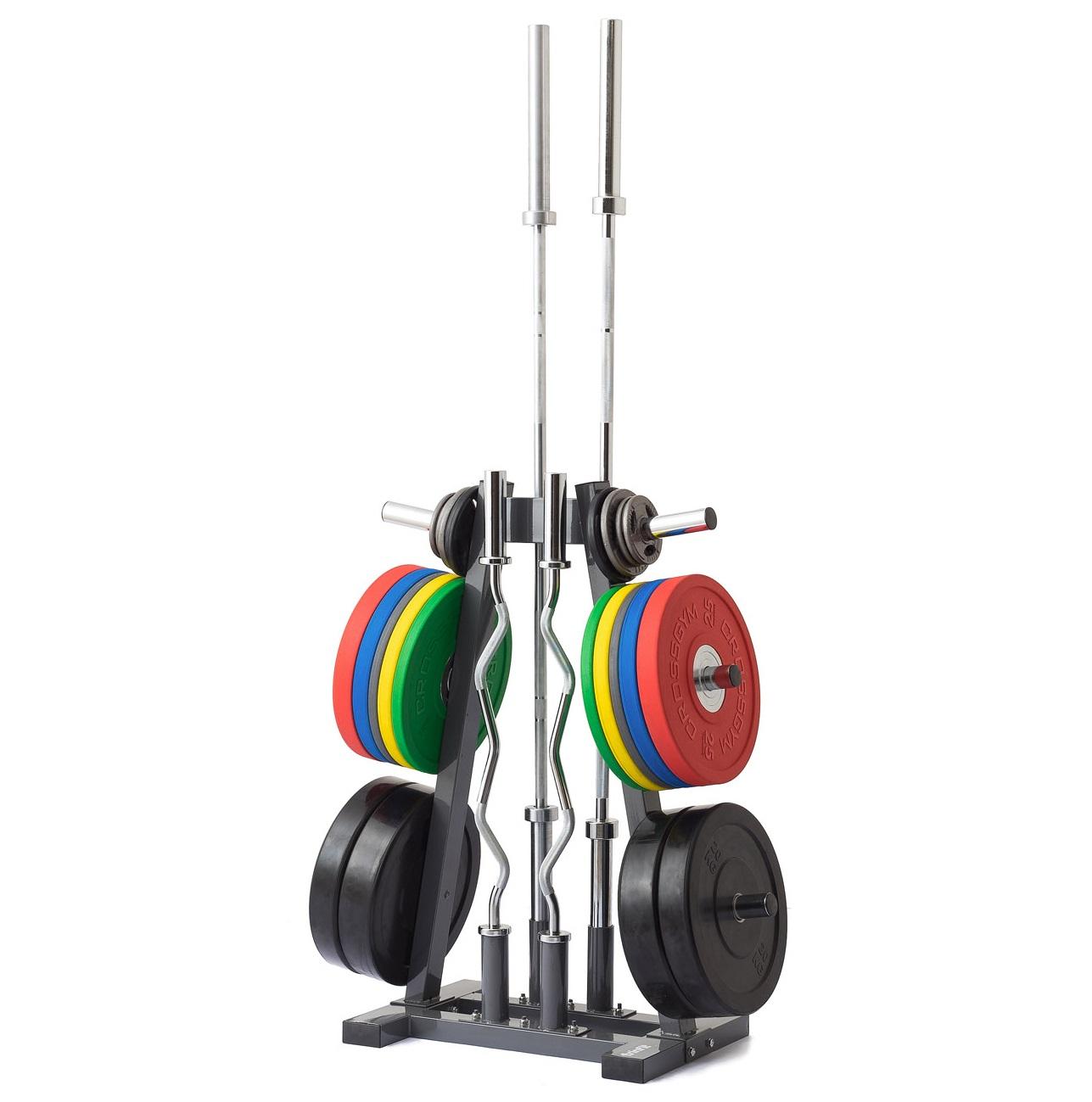 Stojan na olympijské kotouče a osy TRINFIT Rack Olympic A + zajištění servisu u Vás doma ZDARMA
