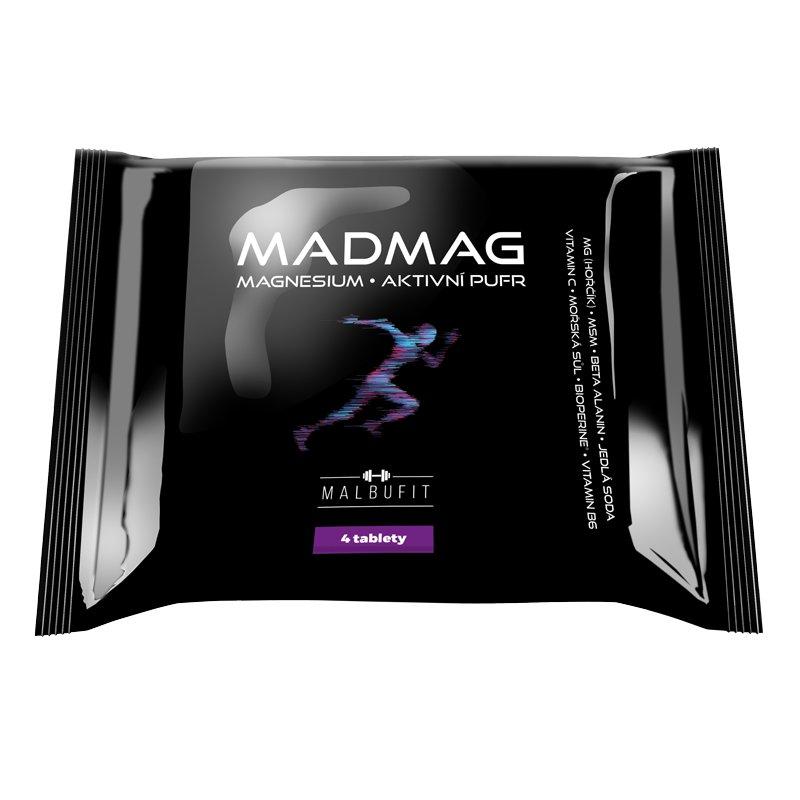 MALBUCARE MADMAG hořčík ve žvýkacích tabletách 4 tablety