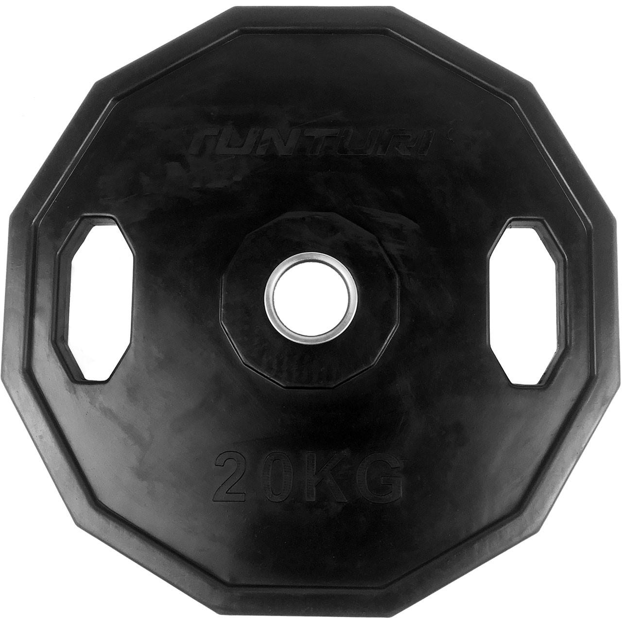 Kotouč olympijský pogumovaný 20 kg hranatý TUNTURI