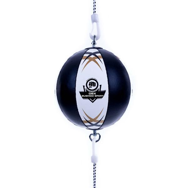 Reflexní míč, speedbag kožený DBX BUSHIDO ARS-1164 černo-bílý
