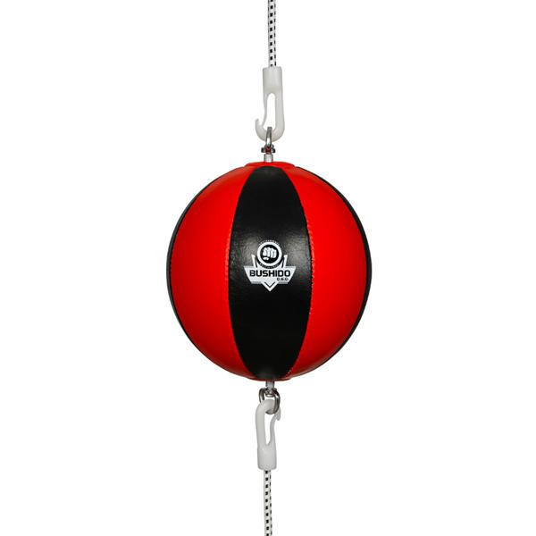 Reflexní míč, speedbag kožený DBX BUSHIDO ARS-1164 černo-červený