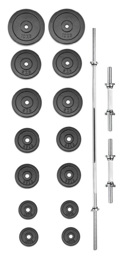 TRINFIT set činek PREMIUM 70 kg kovový