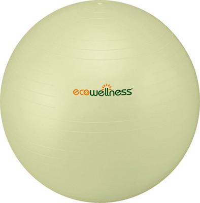 Gymnastický míč Ecowellness 65 cm bílý