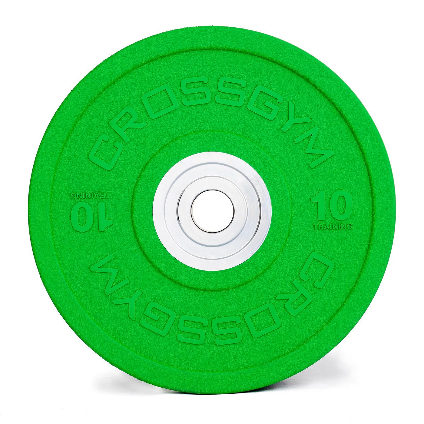 Kotouč Bumper Plate TRINFIT gumový 10 kg /50 mm CrossGym