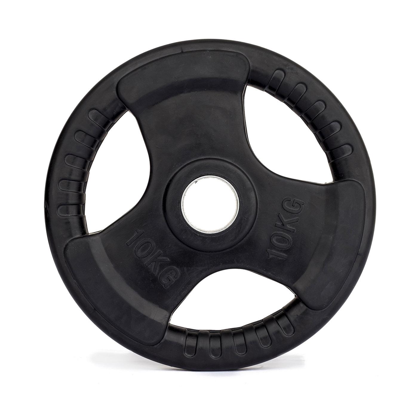 Kotouč olympijský TRINFIT kov pogumovaný 10 kg / 50 mm
