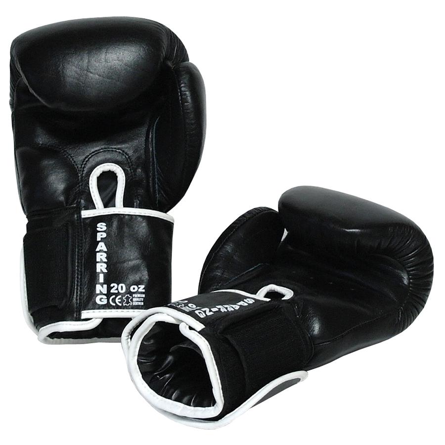 Boxerské rukavice 20 oz kůže Sparring BAIL černé 13358496a8