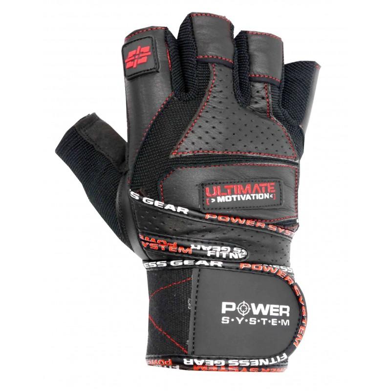 Fitness rukavice ULTIMATE S černo-červené