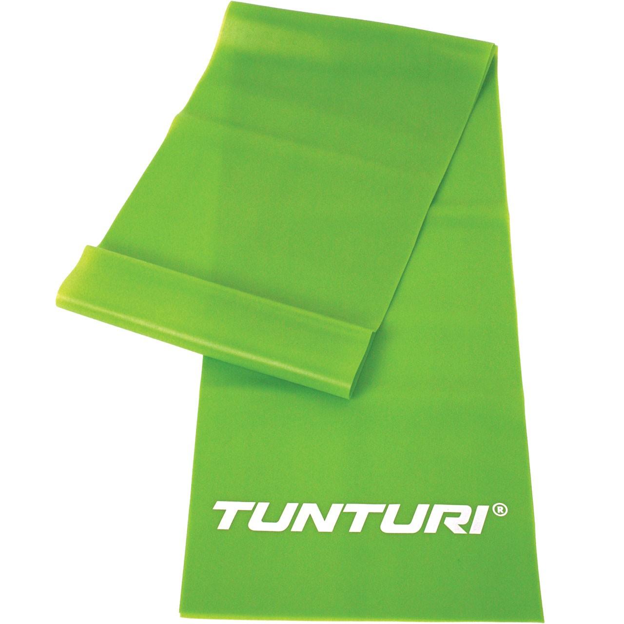 Posilovací gumový pás Aerobic band TUNTURI střední - zelený