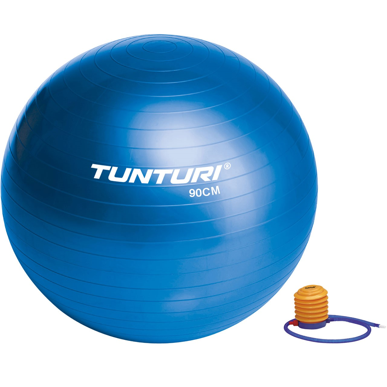 Gymnastický míč s pumpičkou 75 cm TUNTURI modrý