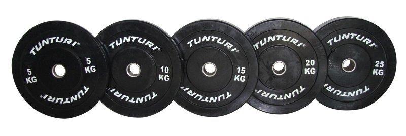 Gumový kotouč BUMPER TUNTURI 10 kg černý