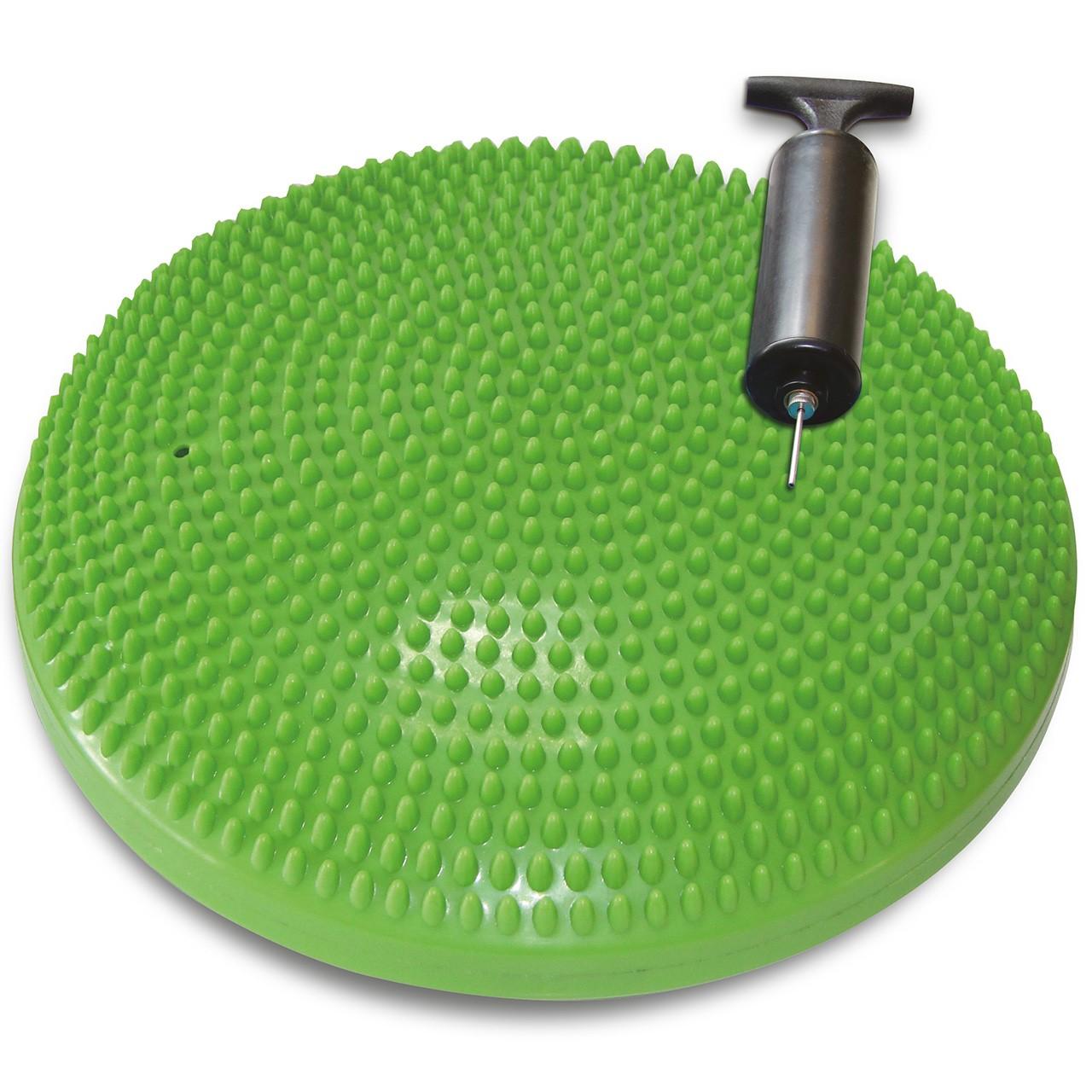 TUNTURI Vzduchová balanční podložka s pumpičkou zelená