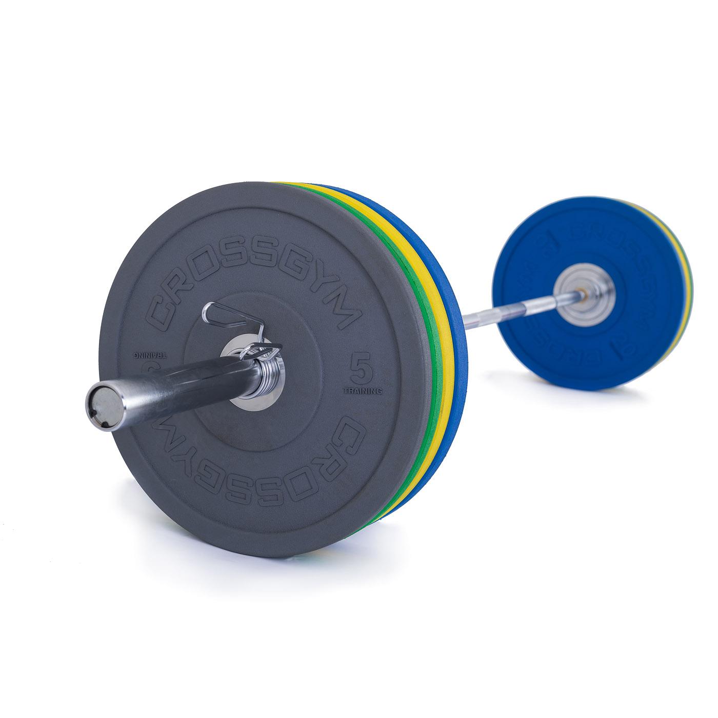 TRINFIT Olympijská činka 120 kg Bumper CrossGym