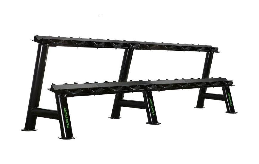 TUNTURI Pro - Stojan jednoručky - Dumbbell Rack dvojitý + zajištění servisu u Vás doma ZDARMA