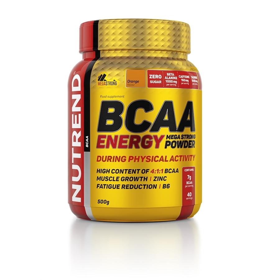 NUTREND BCAA Energy Mega Strong Powder 500 g pomeranč