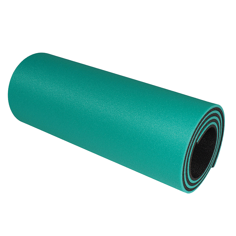Podložka na cvičení - dvouvrstvá 12 mm růžovo / modrá