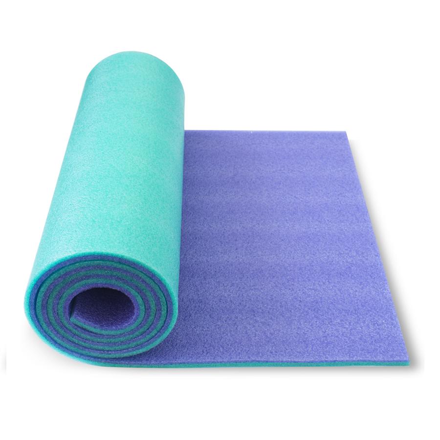 Podložka dvouvrstvá 10 mm Soft Foam YATE modro-zelená
