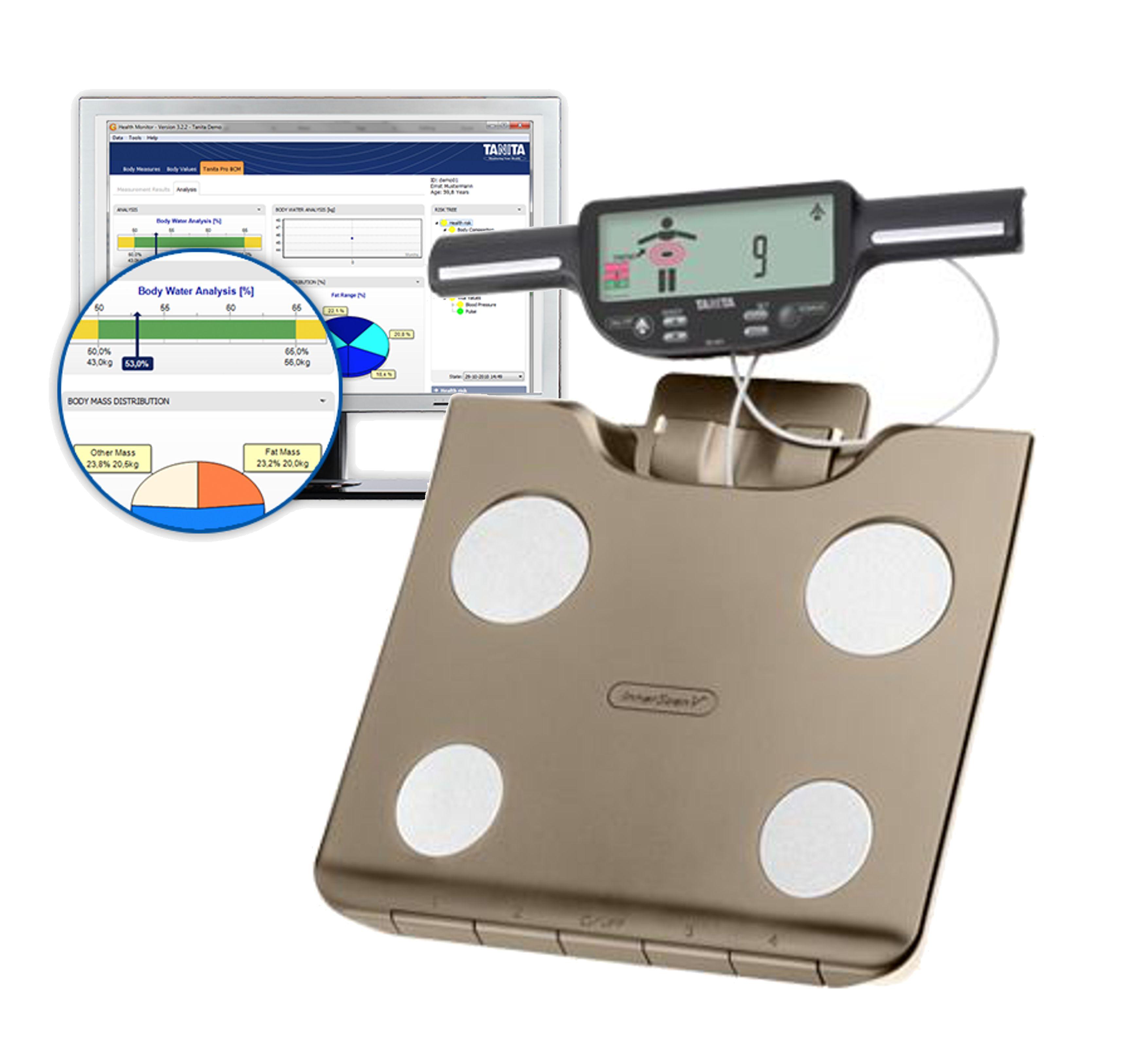 15909713a Osobní váha s měřením tuku TANITA BC-601 se slotem na SD kartu + software