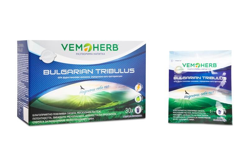 VEMOHERB Tribulus Terrestris Instant drink borůvka 30 x 5 gramů