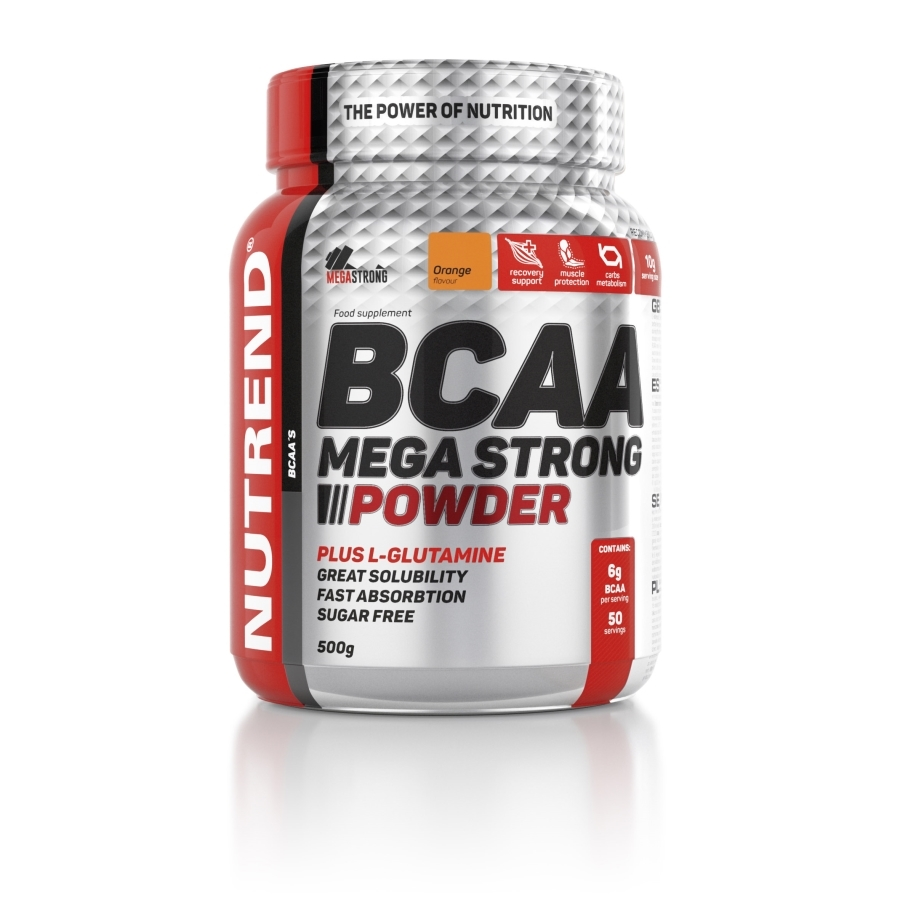 NUTREND BCAA Mega Strong Powder 500 g pomeranč