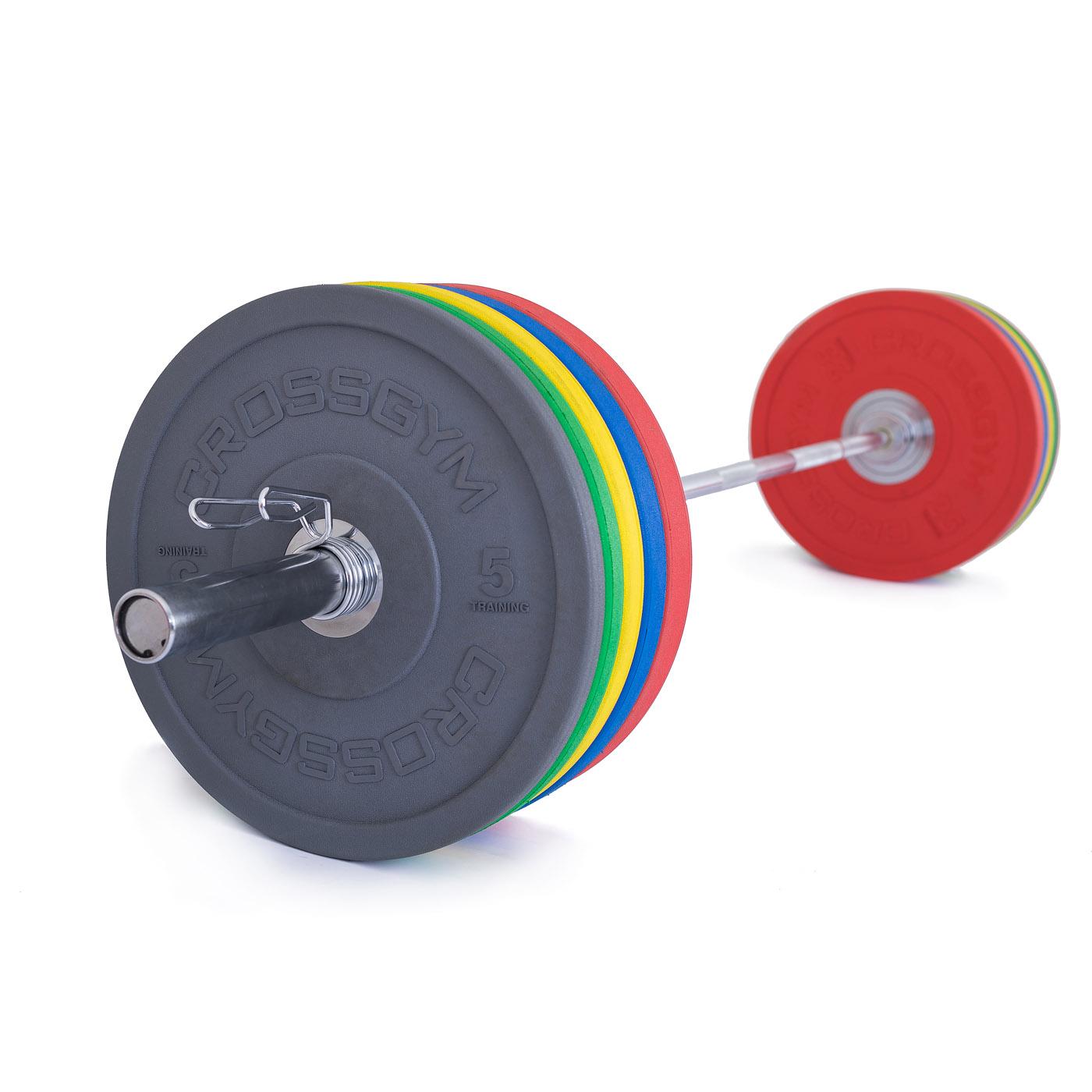 TRINFIT Olympijská činka 170 kg Bumper CrossGym
