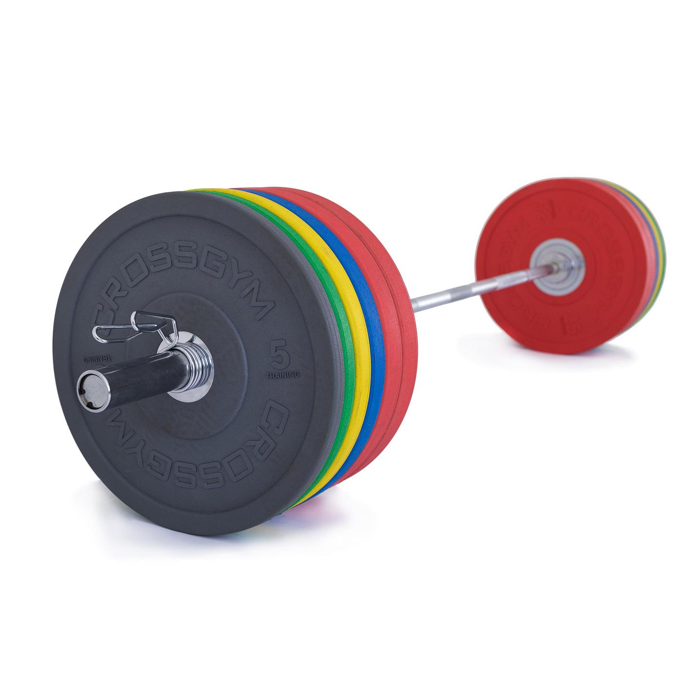 TRINFIT Olympijská činka 220 kg Bumper CrossGym