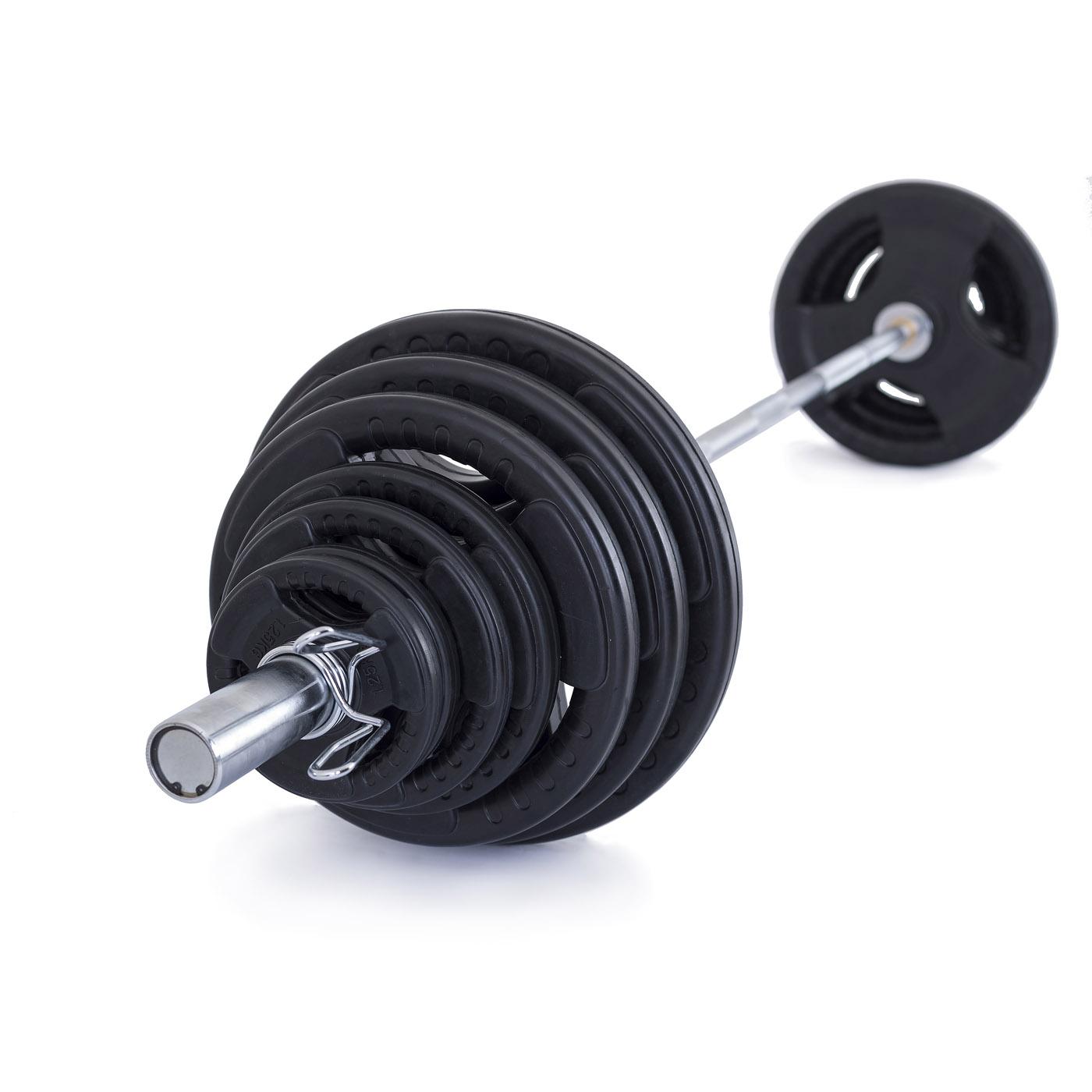 TRINFIT Olympijská činka 130 kg pugumovaná