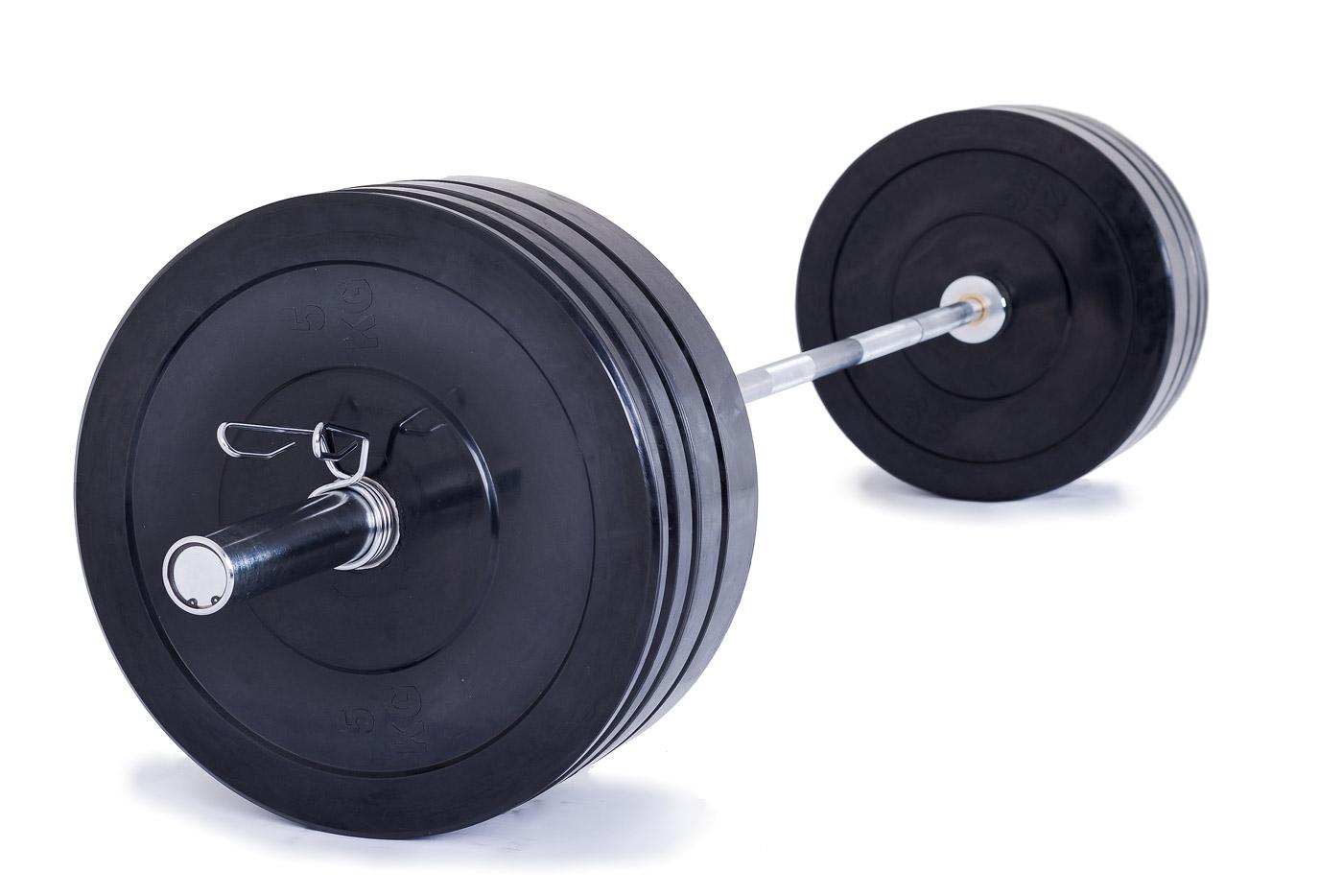 Olympijská činka TRINFIT 120 kg Bumper training