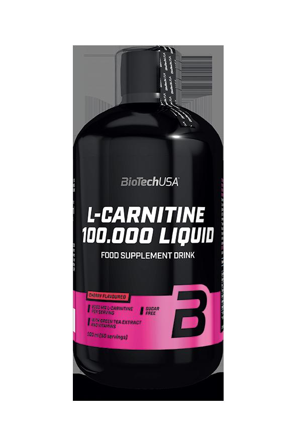 BioTech USA L-Carnitine 100000 500 ml višeň
