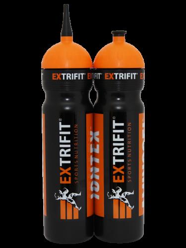 Extrifit Bidon s hubicí 1L černo oranžový