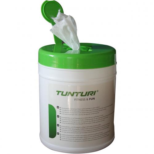Čistící ubrousky na cvičební vybavení 15x20 cm 160 ks TUNTURI