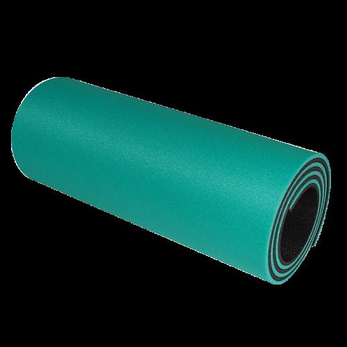 Podložka na cvičení - dvouvrstvá 12 mm světle zelená-černá