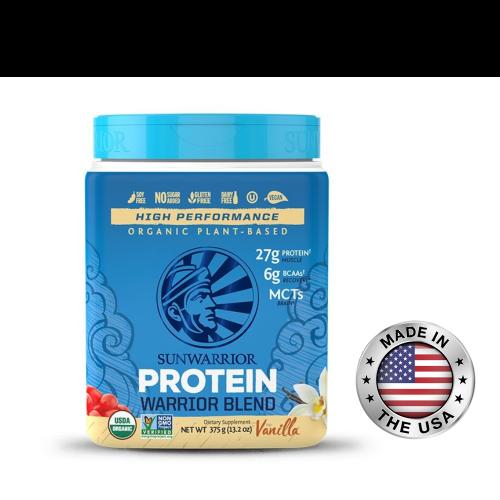 SUNWARRIOR protein 375 g - vanilka