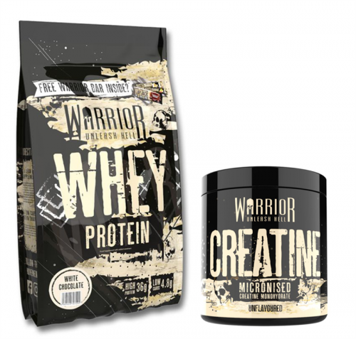 WARRIOR Whey Protein 1000 g + Creatine Micronised 300 g ZDARMA!