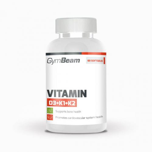 GymBeam Vitamin D3 + K1 + K2 120 kapslí