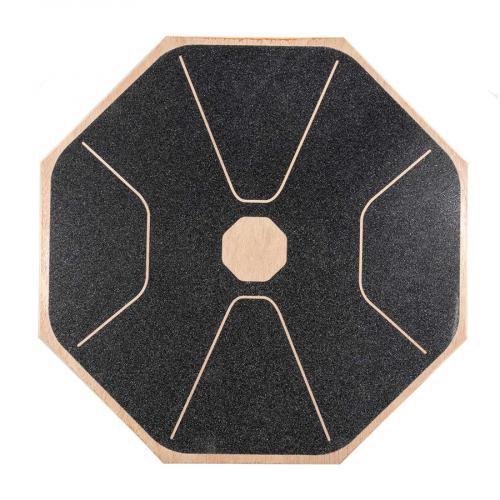 Balanční deska dřevěná YATE - osmiúhelník vrchní strana