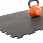 TRINFIT Sportovní gumová podlaha do fitness_puzzle_50_50_černá_5dg