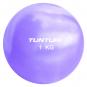 Jóga míč tónovaný 1,5 kg TUNTURI Toning ball fialový