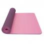 Jóga podložka TPE dvouvrstvá tmavě růžová fialová