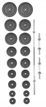 Set činek PREMIUM kovový 120 kg