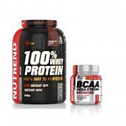 NUTREND 100% Whey Protein 2250 g + 300 g BCAA 4:1:1 ZDARMA!