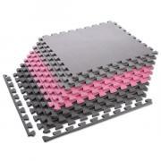 Ochranná puzzle podložka MP10 růžovo-šedá